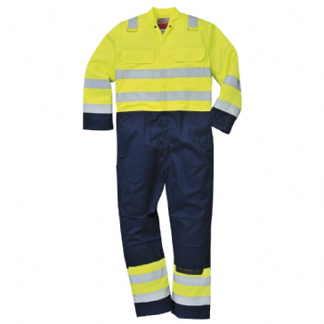 BIZ7 - HI VIS ANTI-STATIC BIZWELD COVERALL